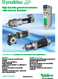High dynamic geared servomotors with reduced backlash